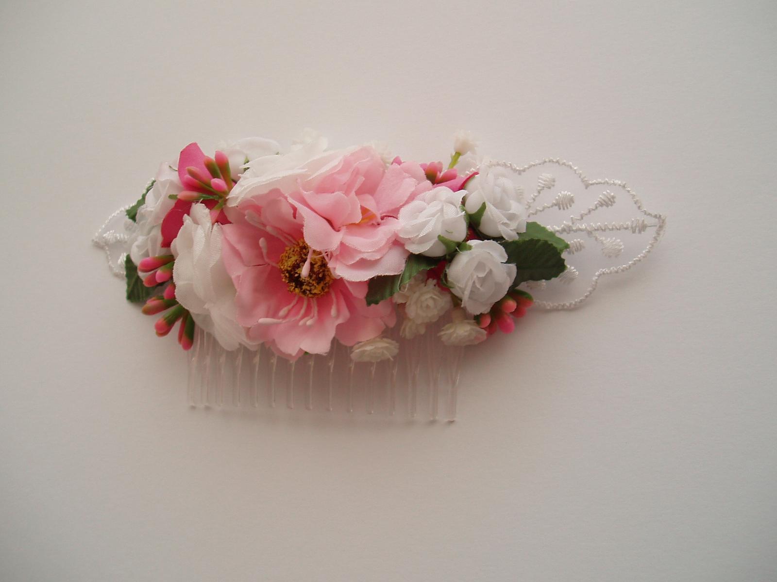 květinový hřebínek - Obrázek č. 2