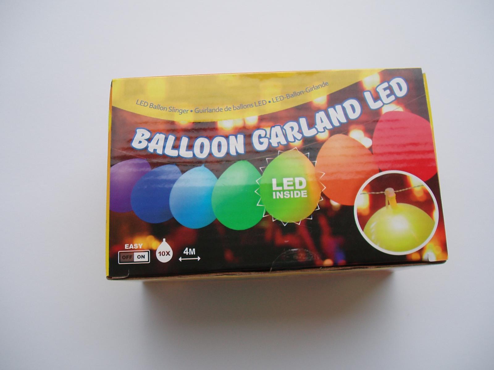 balónková světelná girlanda LED - Obrázek č. 1
