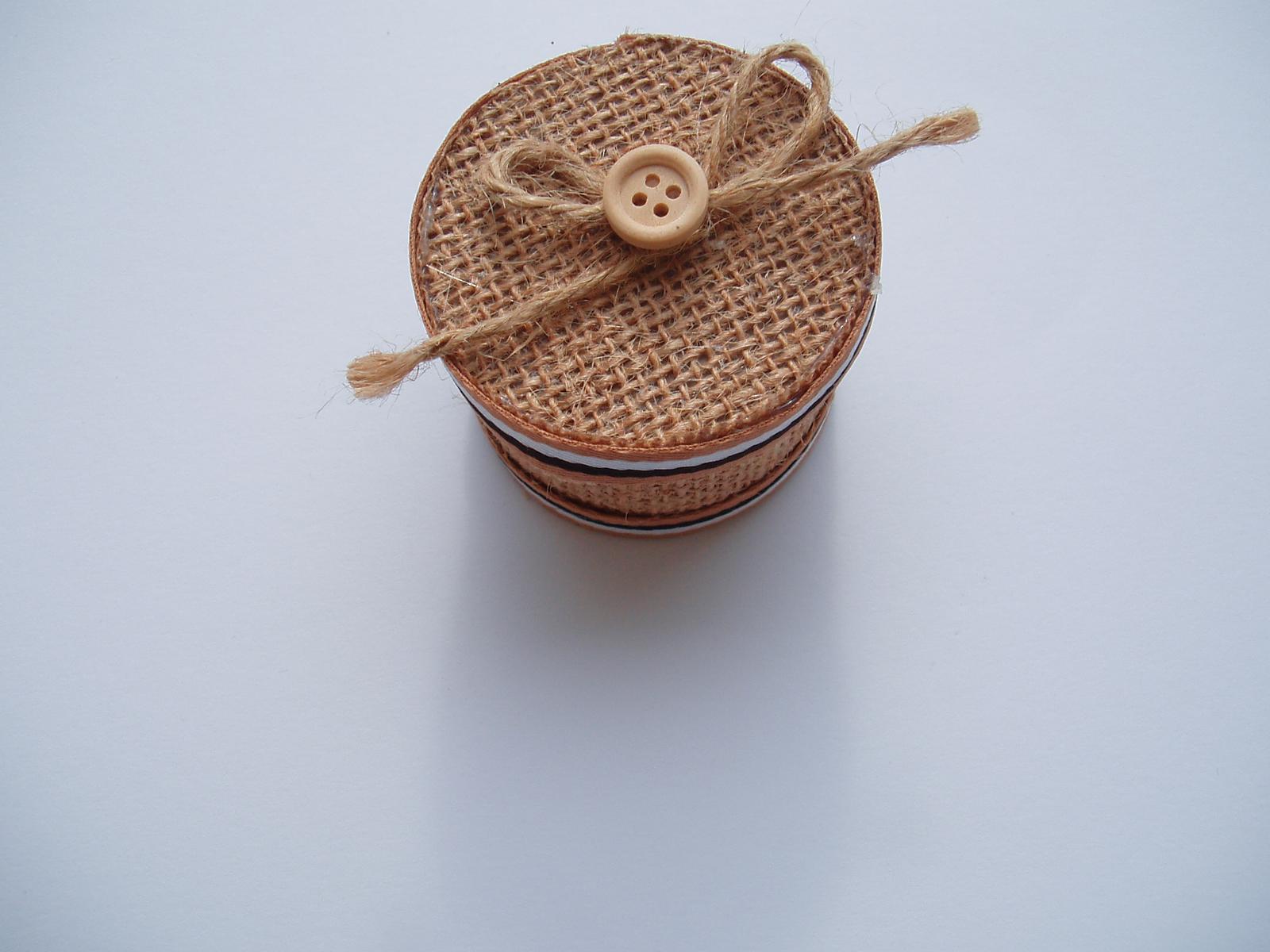 jutová krabička - Obrázek č. 1