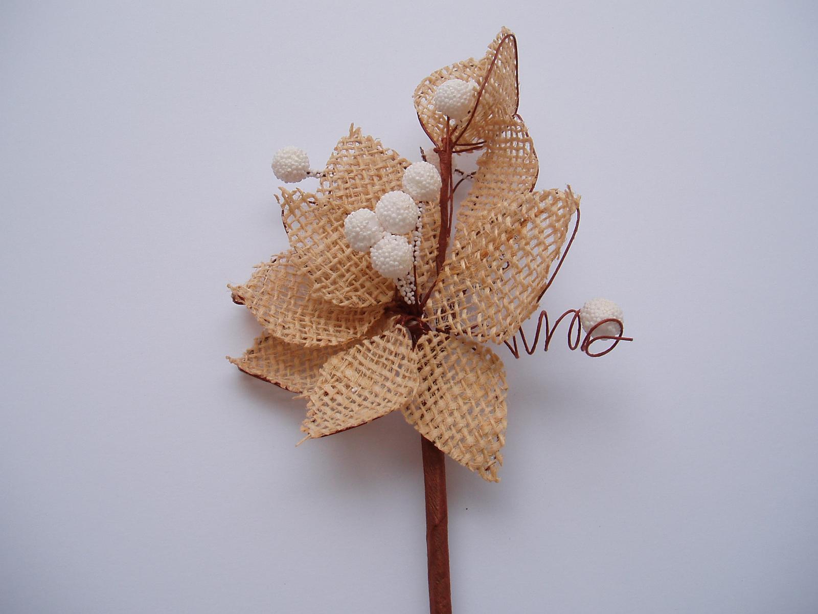 jutová květina - Obrázek č. 1