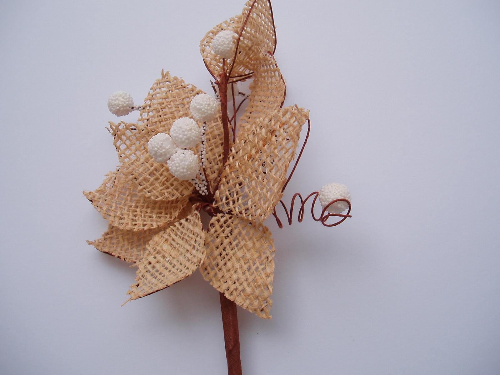 jutová květina - Obrázek č. 4