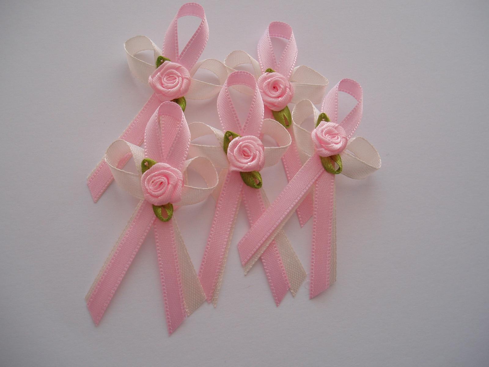 vývazek smetanovo-růžový - Obrázek č. 1
