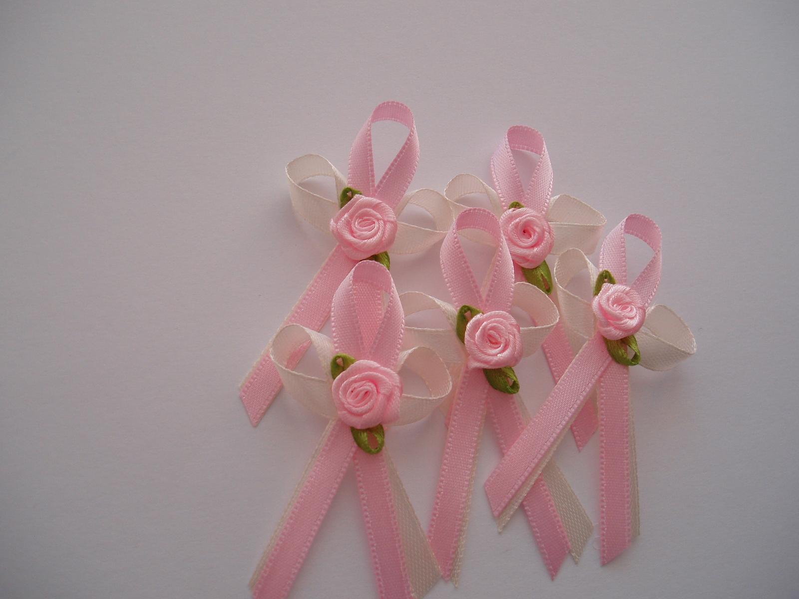 vývazek smetanovo-růžový - Obrázek č. 2