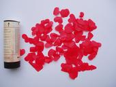 vystřelovací tuba s plátky růží-červené,