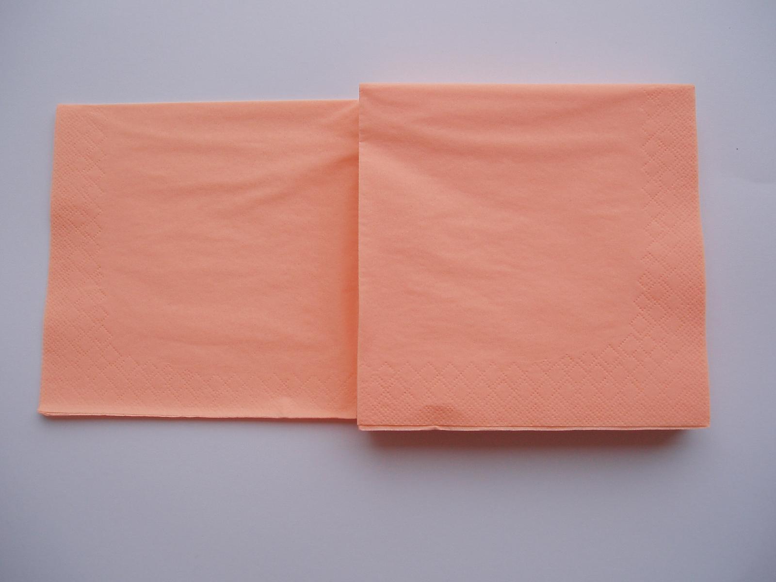 papírové ubrousky lososové - Obrázek č. 1