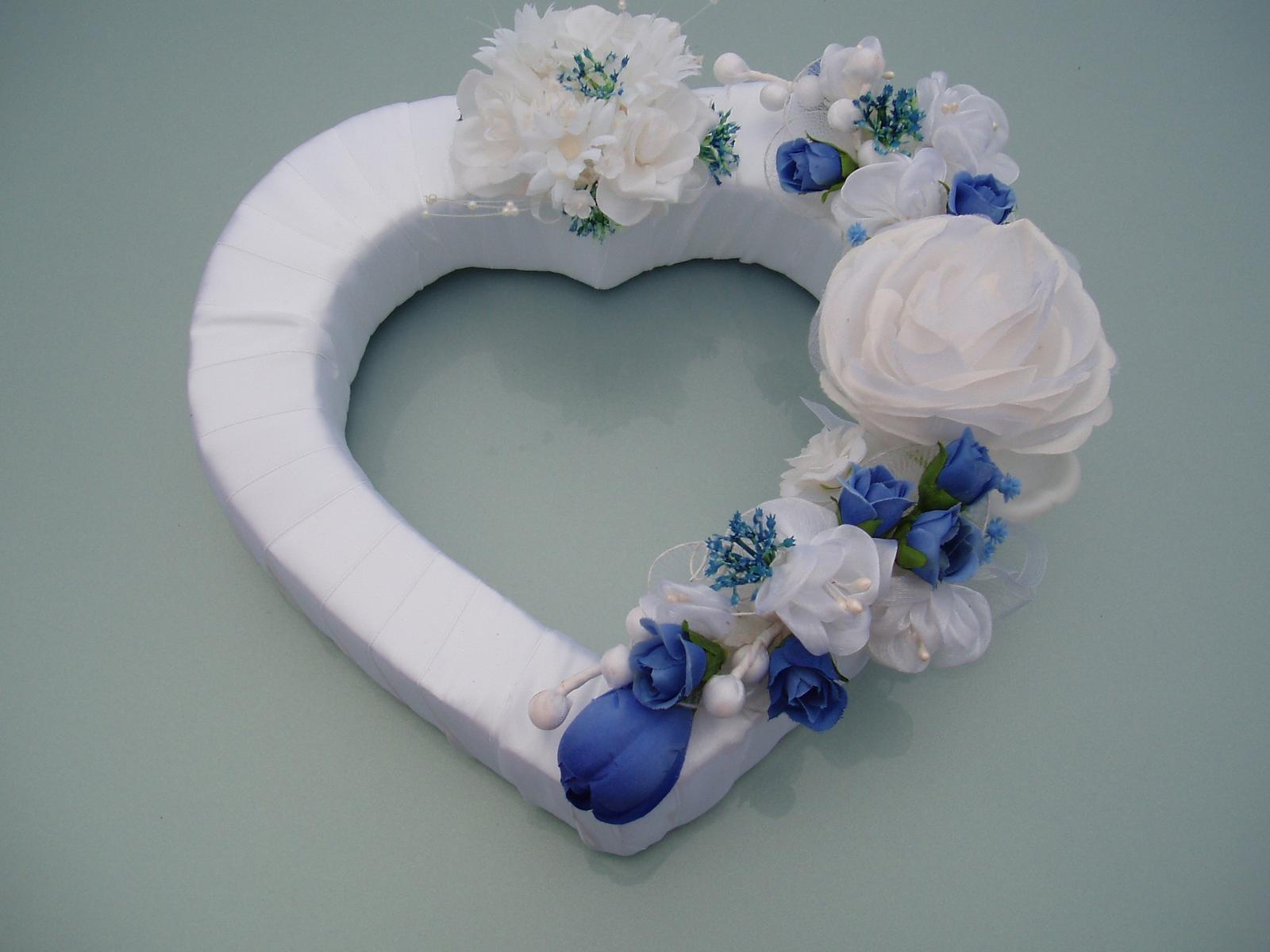 srdce na auto-modré - Obrázek č. 1
