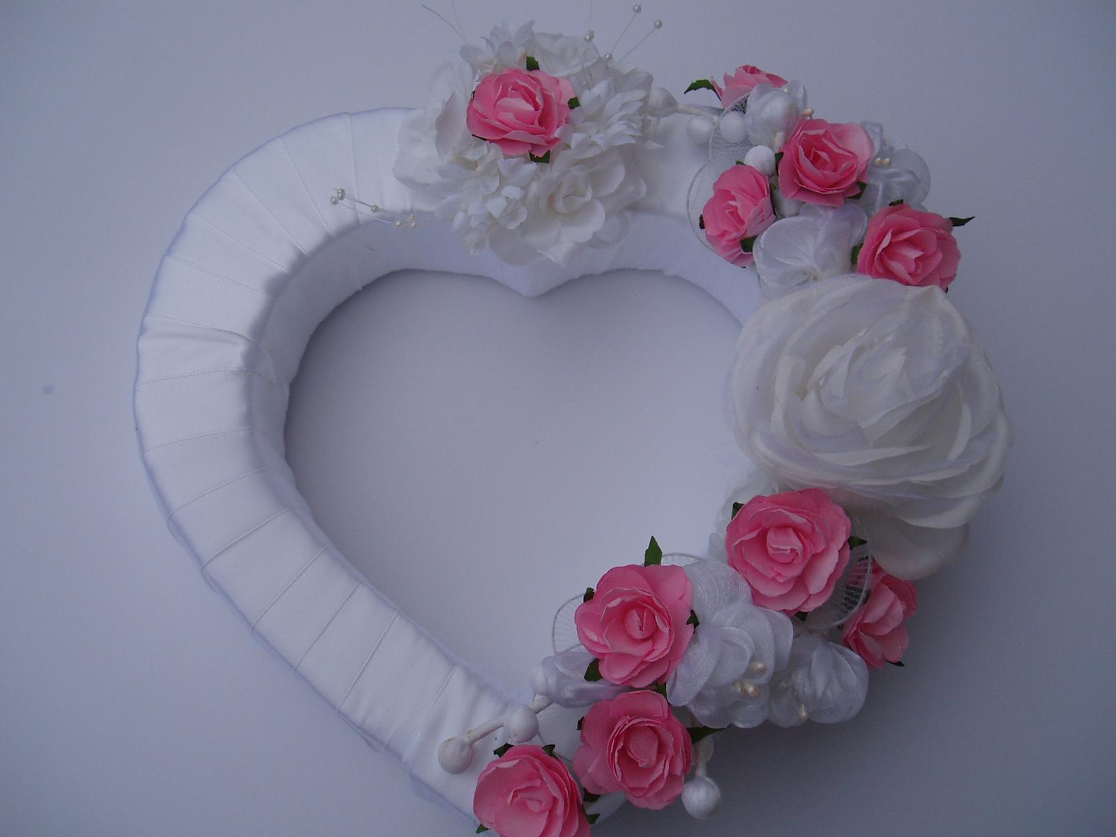 srdce na auto-růžové - Obrázek č. 1