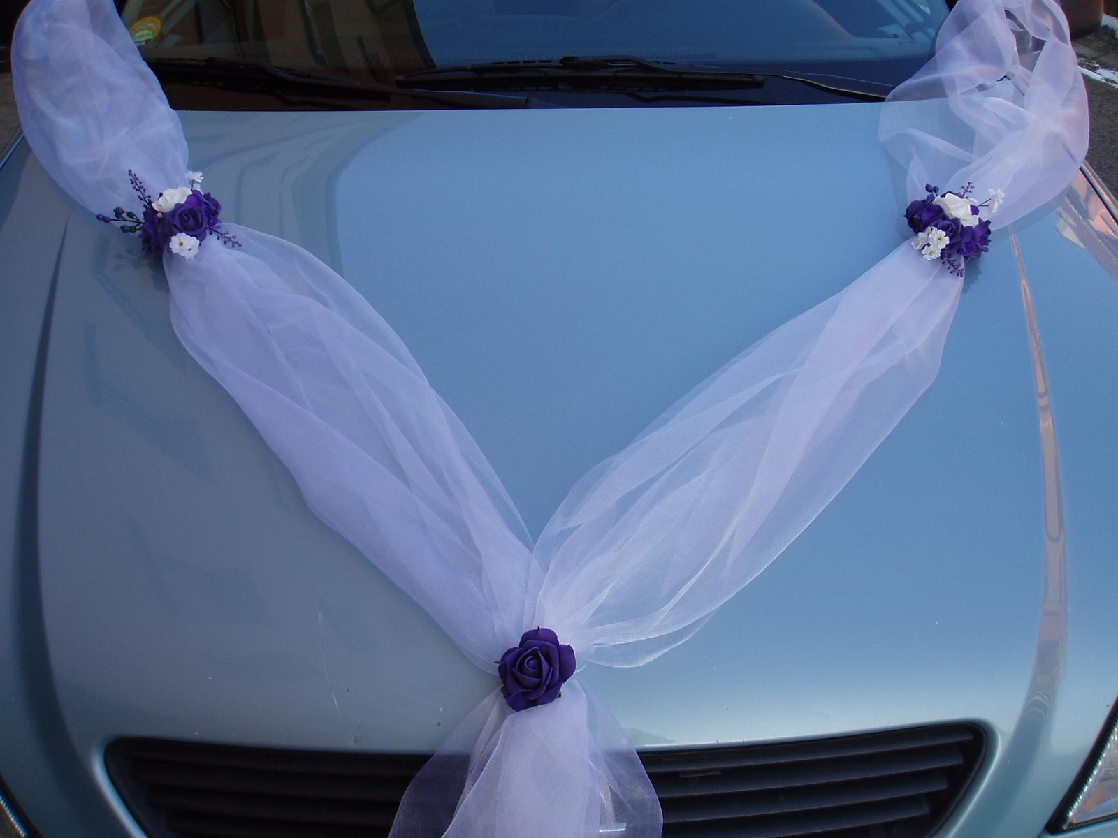 dvojšerpa na auto-fialová růže - Obrázek č. 1