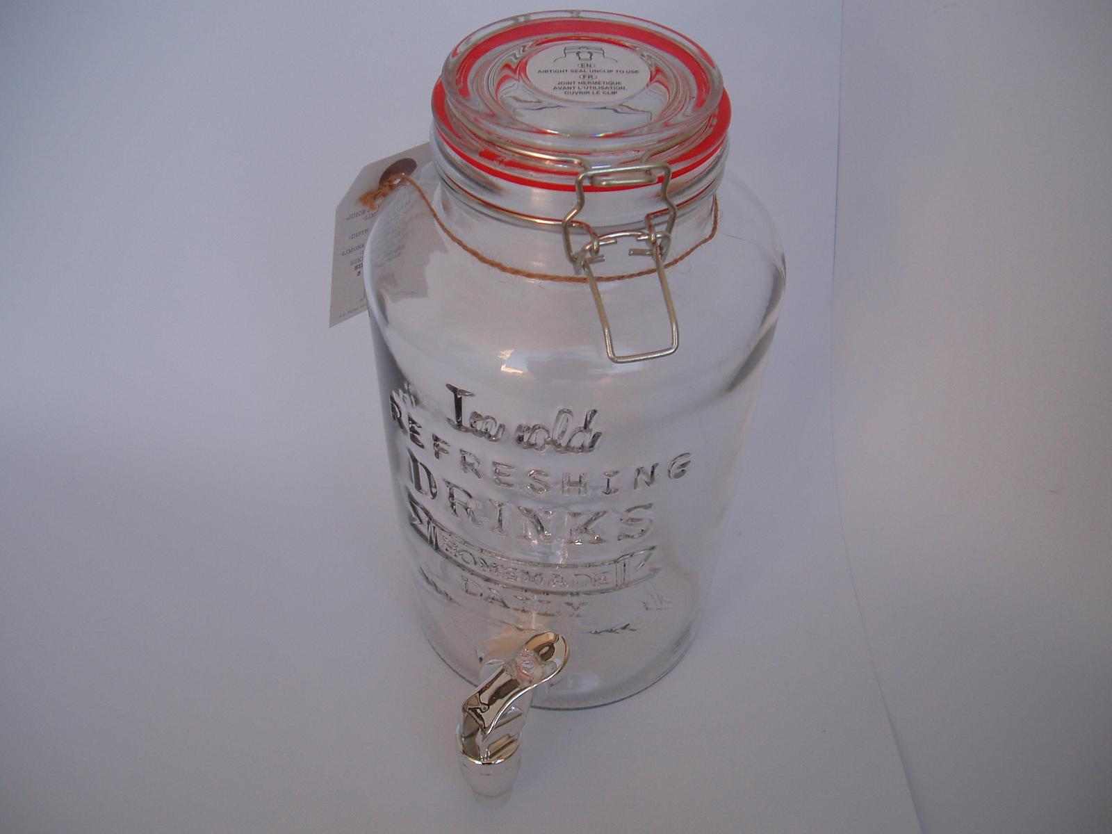 skleněná nádoba s kohoutkem - Obrázek č. 3