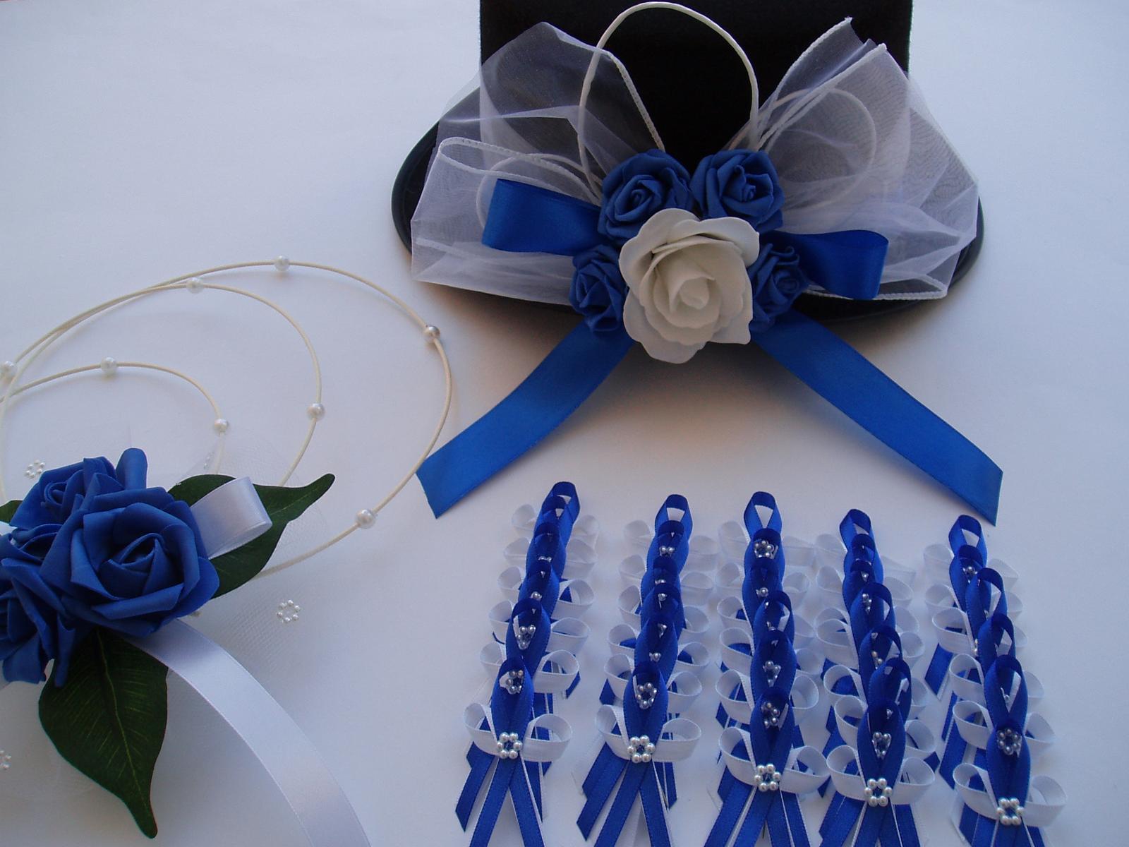 svatební set-modrý - Obrázek č. 1