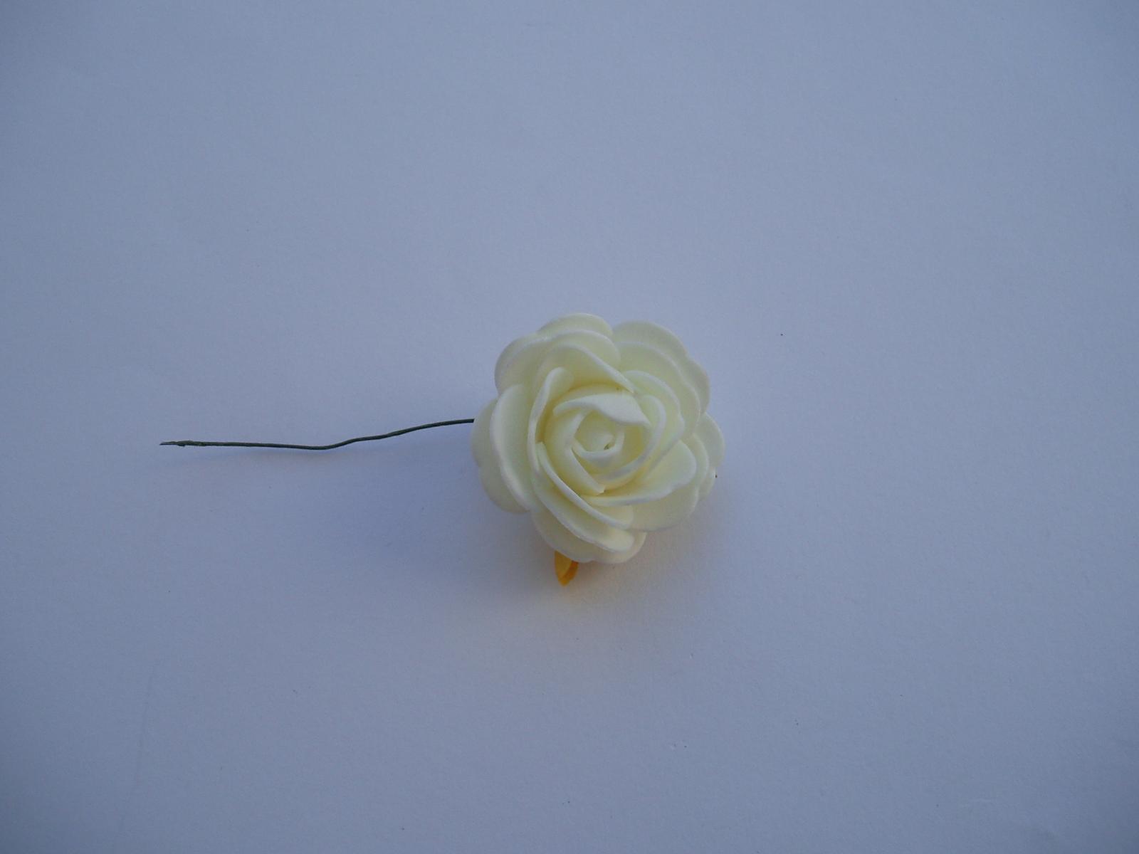 pěnová růže-smetanová 4 cm - Obrázek č. 1