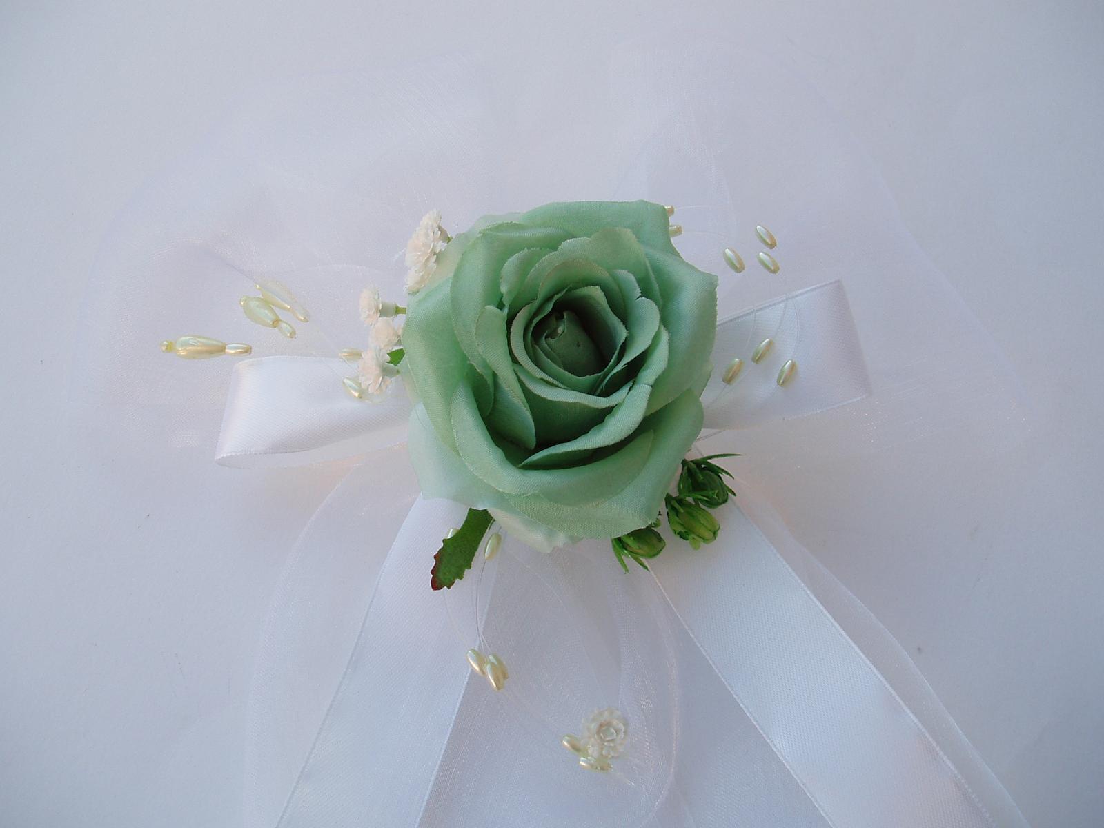 mašle na zrcátka-zelená - Obrázek č. 1