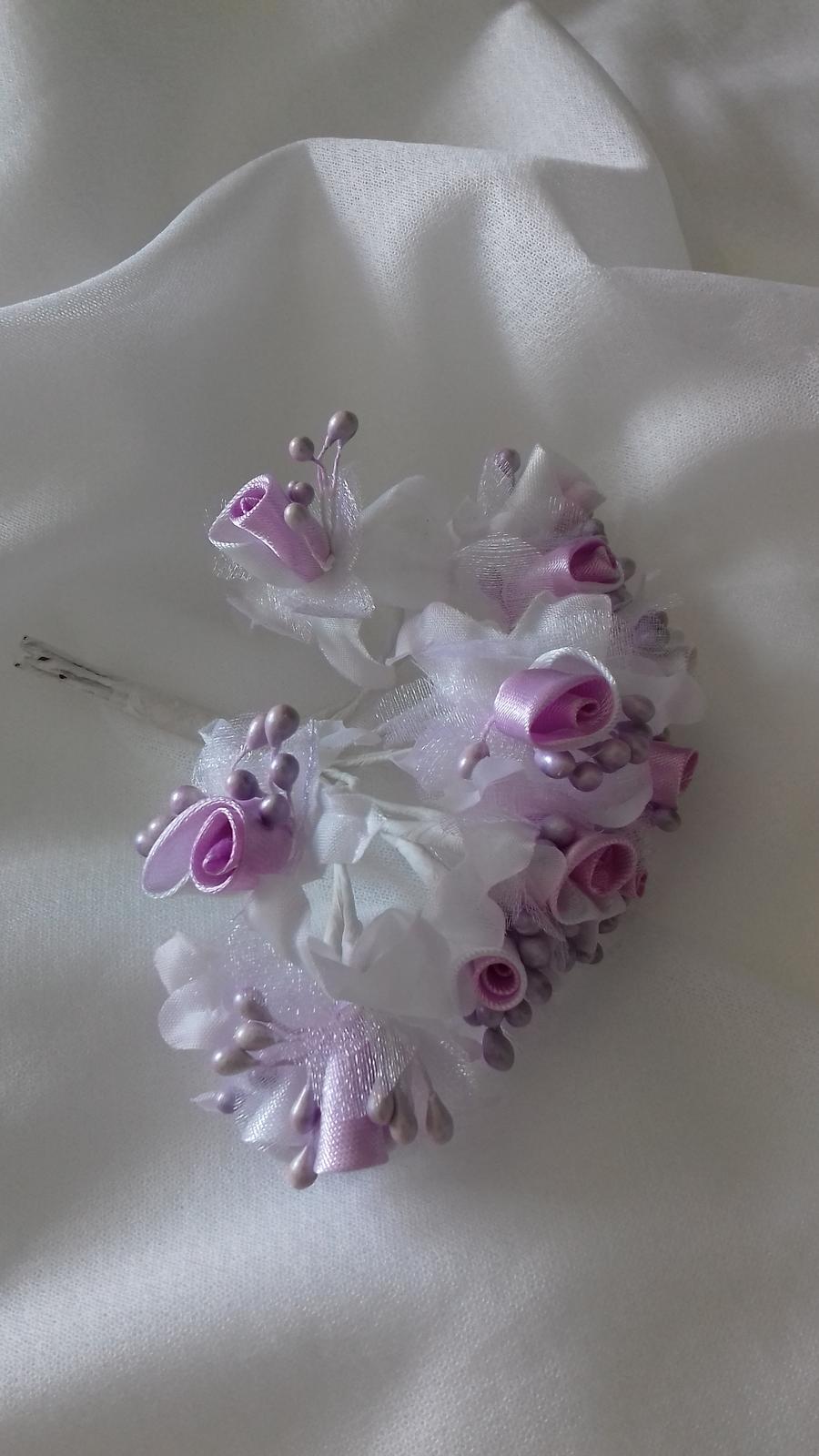 saténová kytička -fialová - Obrázek č. 1