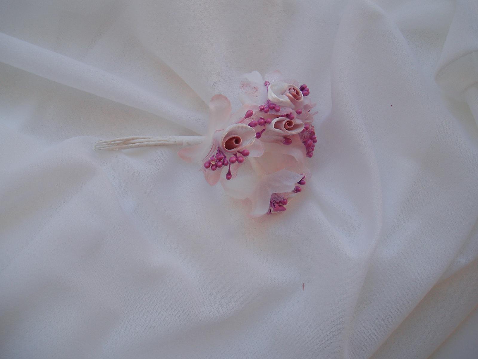 saténová kytička-růžová - Obrázek č. 1
