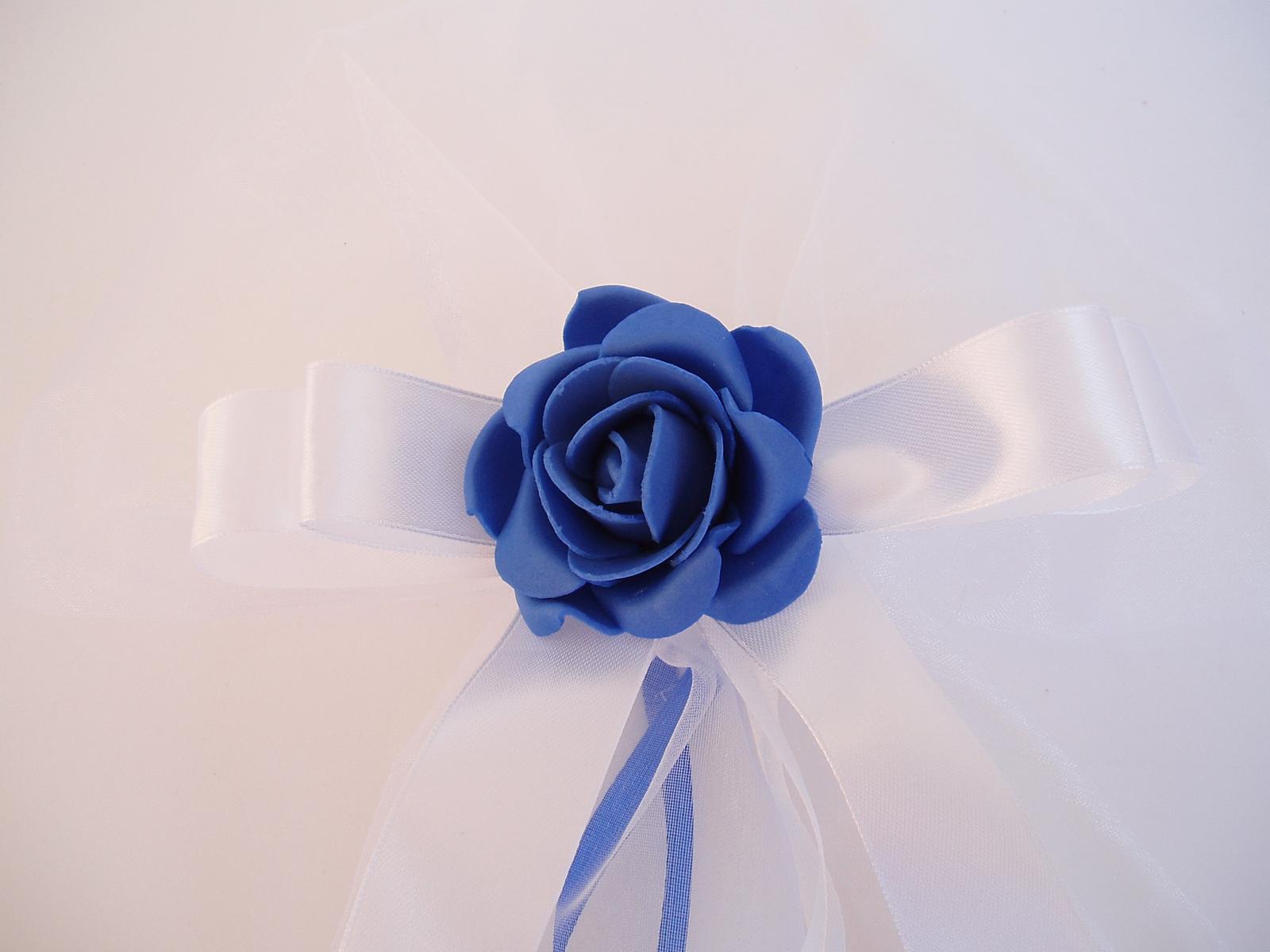 mašle na zrcátka -modrá - Obrázek č. 1