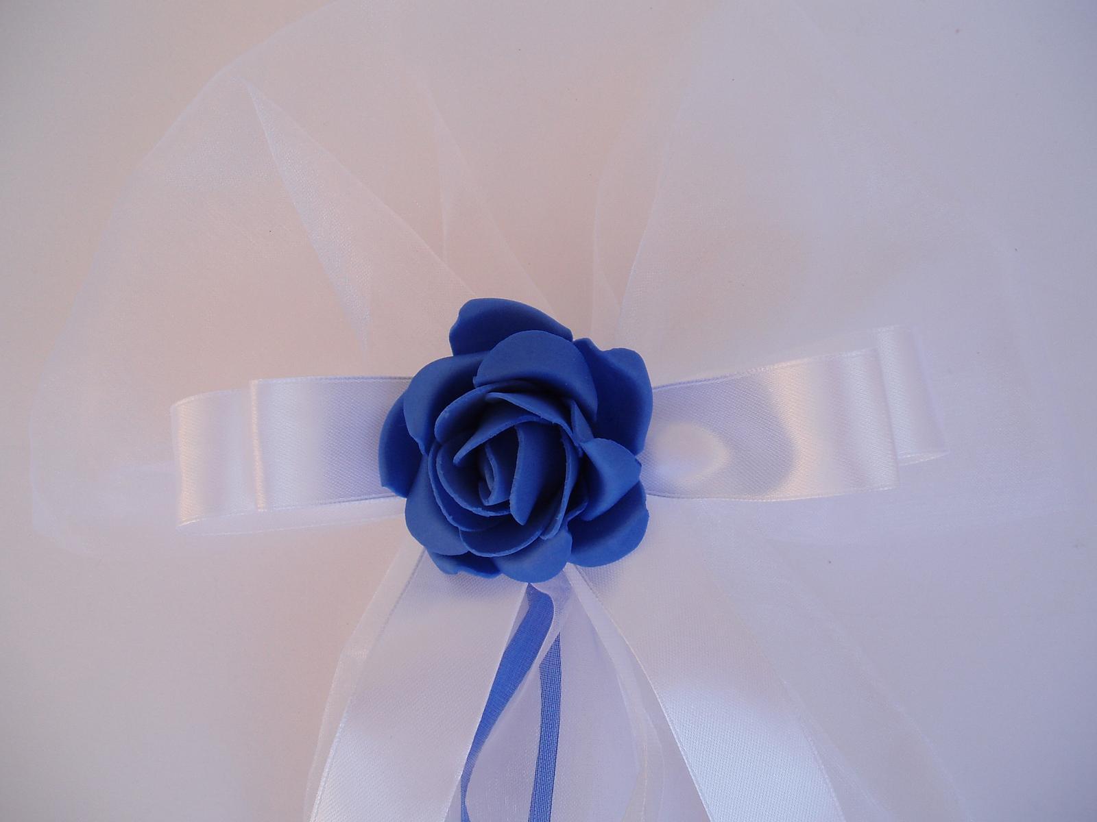 mašle na zrcátka -modrá - Obrázek č. 2