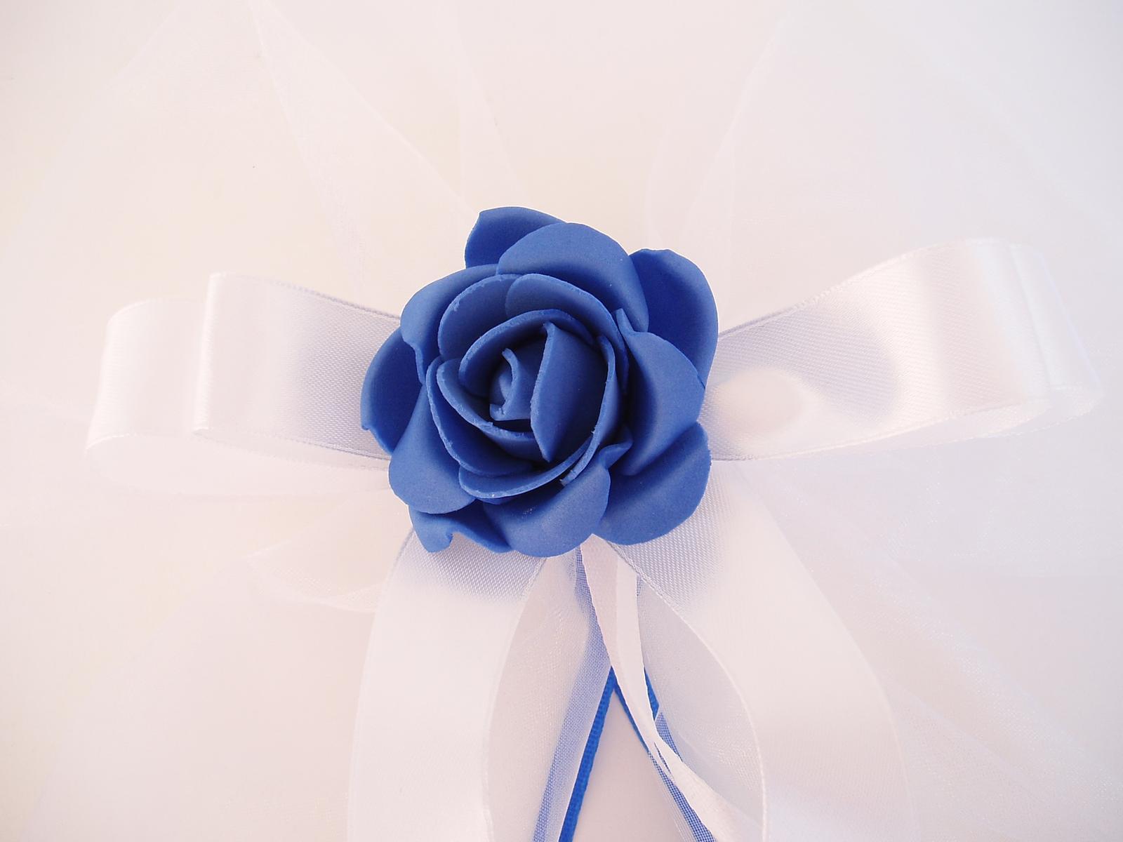 mašle na zrcátka -modrá - Obrázek č. 3