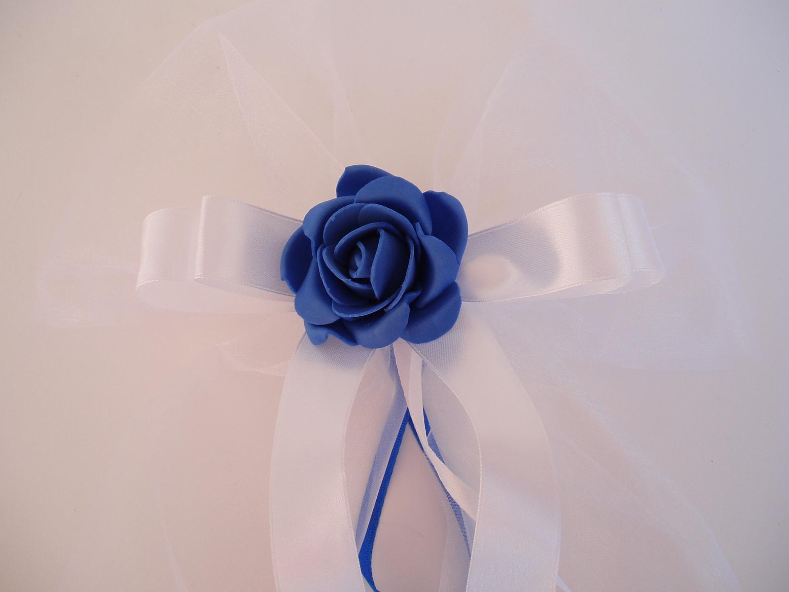 mašle na zrcátka -modrá - Obrázek č. 4