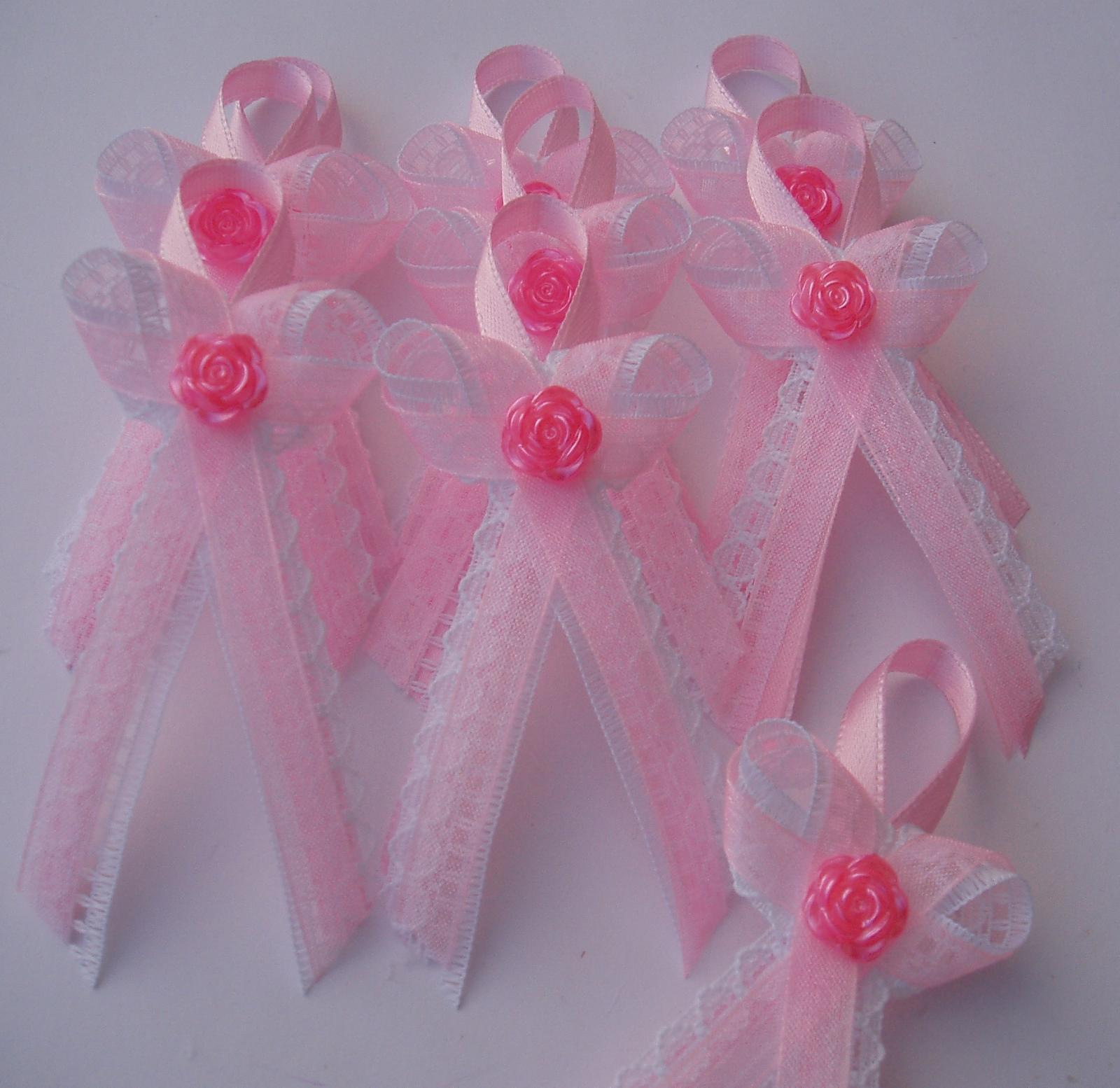 vývazek krajkový růžový - Obrázek č. 1
