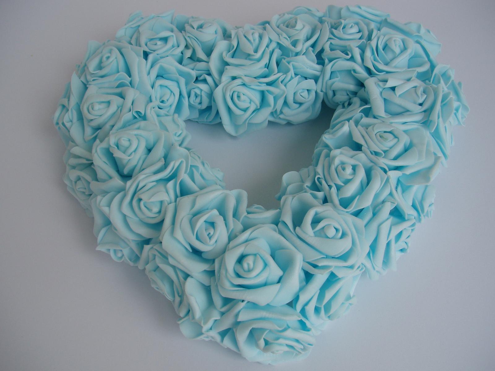 srdce na auto-světle modré - Obrázek č. 1