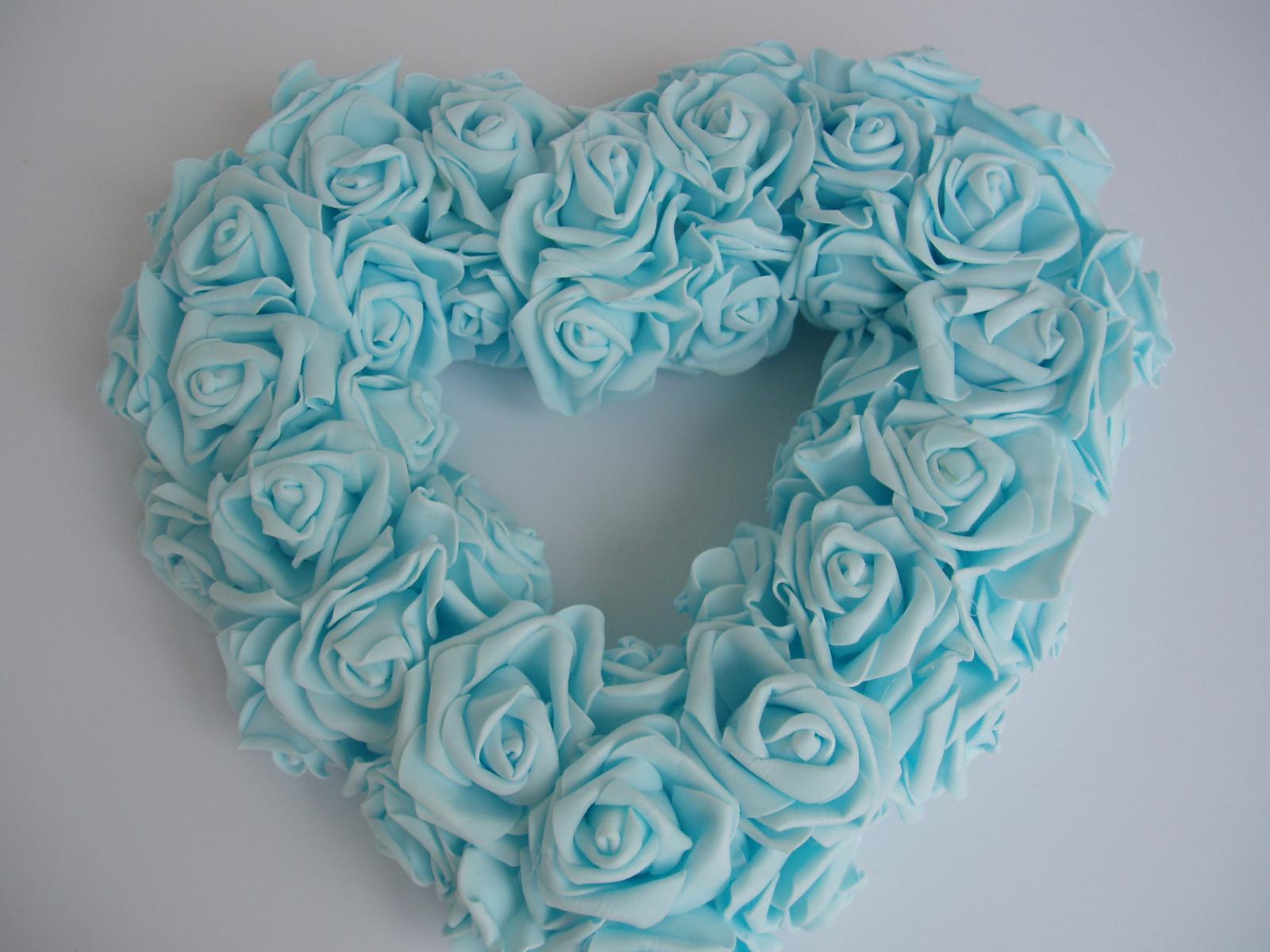 srdce na auto-světle modré - Obrázek č. 2