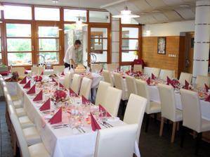 Naše restaurace, připraveno pro svatbu kamarádky mé sestry.
