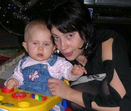 Moje sestřička a moje svědkyně s její Nelinkou