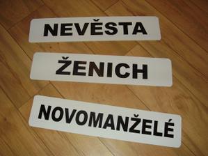 Naše SPZ na auta. :)