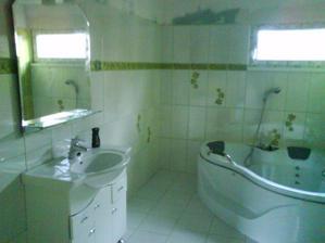 koupelna po rekonstrukci - ještě nevymalovaná