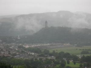 Památní Rob Roye...pohled z hradu ve Stirlingu