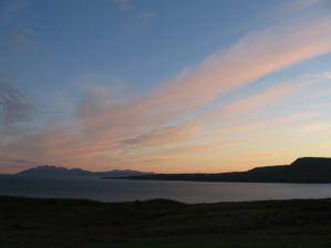 západ slunce na Skye