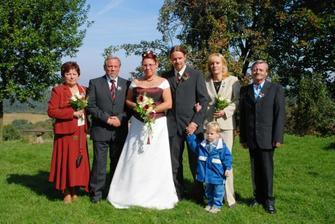 S rodiči a synovcem Péťou