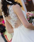 Vzdušné svadobné šaty šité na mieru, 38