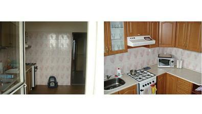 kuchynka pred a po