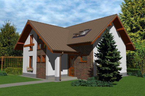 Stavíme domeček - takhle má náš budoucí dům vypadat + přistavíme garáž- ponecháme asi i stejnou barevnou kombinaci