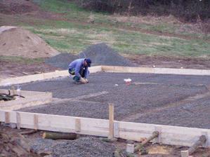 poslední úpravy před betonováním