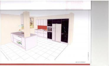 takto bude vypadat naše kuchyň, akorát ty horní skříňky budou takové úzké