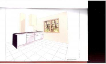 druhá část kuchyně s varnou deskou