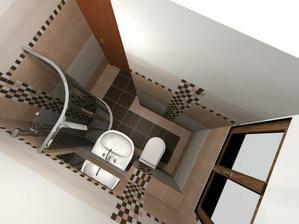 návrh obkladů a dlažby ve spodní koupelně