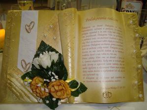 ďakovná kniha mojim svadobným rodičom