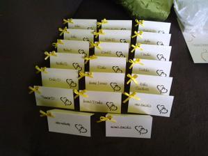 Menovky na stoly - naša spoločná partnerská práca :)