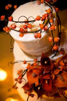 Big day - fall wedding cake