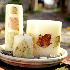 nice way how to decorate candles