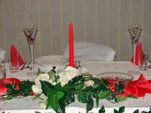 stôl pre nevestu a ženícha