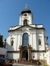 kostel sv.Jana Nepomuckého, kde byla svatební mše