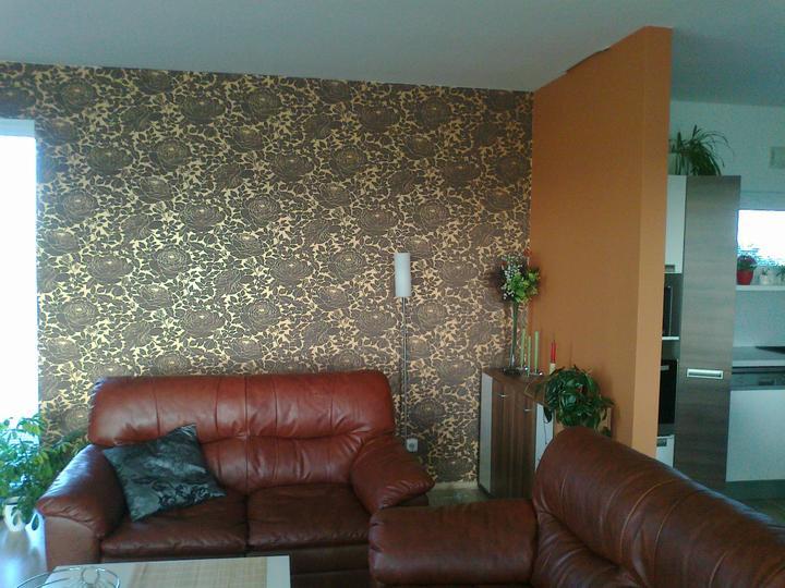 Náš obývací pokoj s kuchyní - .. a po pár letech malá změna....