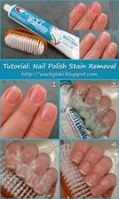 ..prý bělící zubní pasta poslouží stejně dobře jako odlakovač na nehty...Vyzkoušíme, uvidíme :-)
