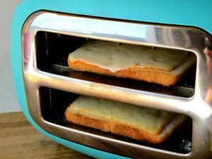 Dobrý nápad, jak si udělat toust se zapečeným sýrem :-)
