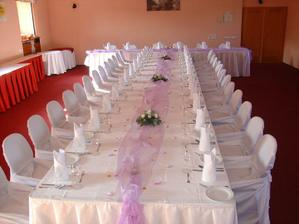 Čertousy - svatební tabule