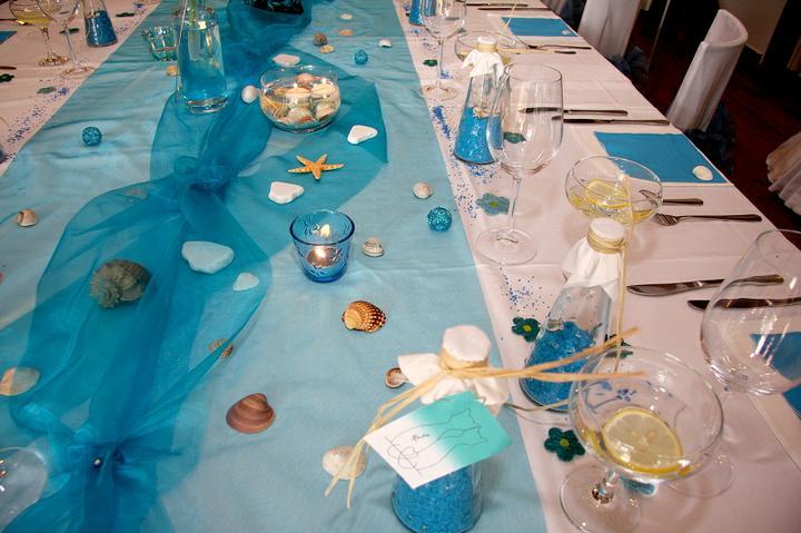 Co už máme a inspirace aneb mořská svatba - podobně bude vypadat naše tabule, fotku jsem si propůjčila